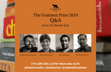 The Short List for the Gratiaen Prize 2019